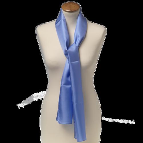 Sjal blå - siden - 25x160 cm (1) a3a8f1ecf4a0f